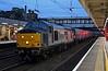 37884 Cepheus & 321403 Stewart Fleming Signalman Kings Cross, 5Q08, Lancaster, Mon 8 October 2018 - 1845.  The Rail Operations Group's 1226 Ilford EMU depot - Kilmarnock Wabtec move.
