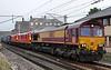 66182 + 90019 Multimodal & 90029 (both dead), 4M30, Carnforth, Sat 18 August 2018 - 1922.  DB Cargo's 1015 Grangemouth - Daventry.