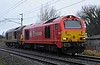 67018 Keith Heller & 67008, 0C19, Carnforth, Thurs 4 January 2017 - 1345.  DB Cargo's 1225 Crewe - Carlisle move.