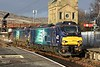 88010 Aurora & 88009 Diana, 0C51, Carnforth, Wed 17 January 2018 - 1430.  The 88s arrive with DRS's 1258 Sellafield - Heysham test / training run.  This was the first time 88s had been to Heysham.