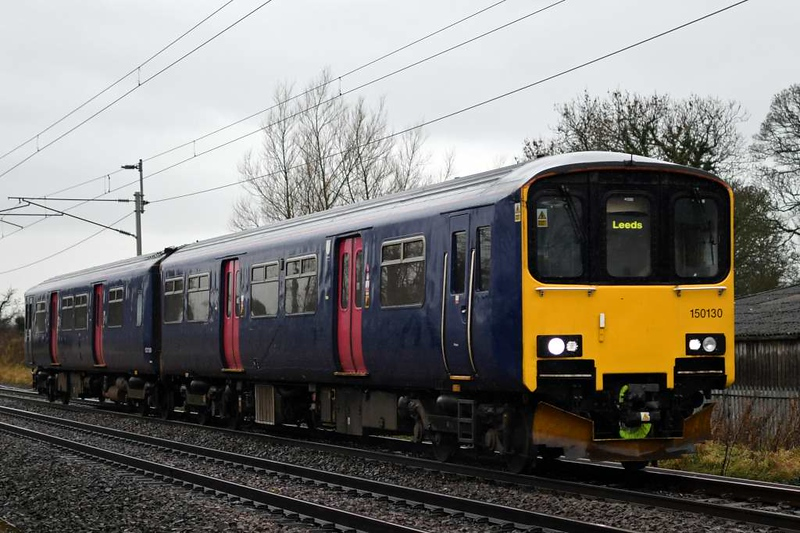 150130, 2H60, Carnforth, Wed 5 December 2018 - 1052.  Northern's 1045 Lancaster - Leeds.  The DMU is still in FGW colours.  It had previously worked 2H05 0819 Leeds - Lancaster.