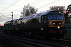 D1924 (47810) Crewe Diesel Depot & 1733 (47853), 0Z42, Carnforth, Sun 14 October 2018 - 1833.  Locomotive Services' 1700 Crewe - Dumbarton move. The locos returned light to Crewe the next day.