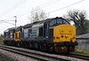 37405 & 37409 Lord Hinton, 0Z37, Carnforth, Tues 16 April 2019 - 1518.  DRS;s 1206 Derby RTC - Kingmoor move.
