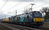 88002 Prometheus, 37038, & 37409 Lord Hinton, 3Z37, Carnforth, Mon 4 March 2019 - 1312.  DRS's 0906 but 0956 Derby RTC - Carlisle move via Shap.  The coaches were DBSO 9701 & 977969.  The 88 had been added at Crewe.