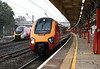 221109 (1S34) & 390118 (9A31), Lancaster, Thurs 19 September 2019 - 0657.  Virgin's 0557 Crewe - Glasgow passes the 0658 Lancaster - Birmingham - Euston.  As usual it had arrived from Longsight (5C31, 0359) via Carnforth goods loop.
