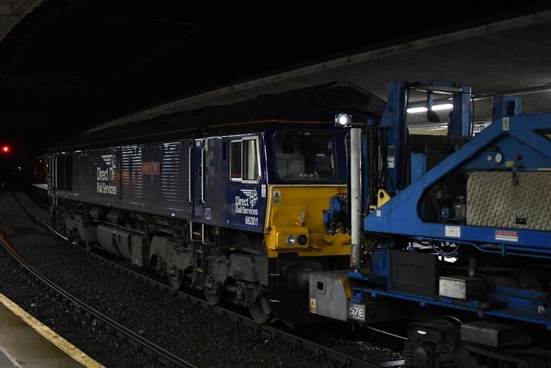 66305 & 66301 Kingmoor TMD, 6C61, Carnforth, Sat 12 January 2019 9.