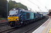 68002 Intrepid & 68034, 6C53, Lancaster, Thurs 19 September 2019 - 0801.  DRS's 0625 Crewe coal siding - Sellafield.