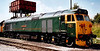 50007 Sir Edward Elgar, Swanwick Junction, 17 August 2001. For many years 50007 wore GWR green with embellishments.