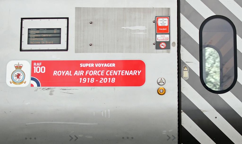 221114 Royal Air Force Centenary 1918 - 2018, 9S77, Carnforth, Thurs 14 March 2019.  The name is on trailer 60964.