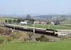 57601 Windsor Castle & 57313 Scarborough Castle, 5Z17, Milnthorpe, Sun 22 March 2020 - 1338.  WCRC's 1018 Joppa Straight (Edinburgh) - Steamtown Northern Belle stock move.  Despite the Coronavirus crisis and government advice to avoid unnecessary travel the Belle had run from York and Newcastle on the 20th, and from Glasgow and Edinburgh on the 21st.