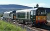 D6817 (37521) & D8107 (20107), 0Z20. Ribblehead, Mon 3 August 2020 2
