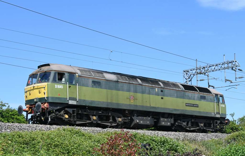 47830 / D1645 Beeching's Legacy, 0Z47, Carnforth, Tues 2 June 2020 - 1226.  Freightliner's 1003 but 1044 Basford Hall - Carnforth test run sets off back to Crewe.