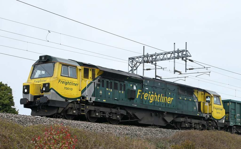 70010, 6H51, Carnforth, Wed 1 April 2020 - 1151.  Freightliner's 1104 Hardendale - Tunstead stone empties.