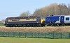 57305 Northern Princess, 331112 & 57310 Pride of Cumbria, 5Q20, Carnforth, Fri 27 March 2020 1.  The Rail Operations Group's 1220 but 1247 Allerton - Skipton Broughton Road carriage sidings move via Wennington.  On the 30th they took 331111 to Skipton, and on the 31st 331107.  On both days they brought a three car 331 from Skipton to Preston.