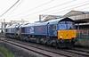 66301 Kingmoor TMD & 66091, Carnforth, Wed 12 August 2020 - 0617.  DRS's 0419 Basford Hall - Carlisle yard move.