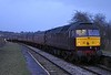 47832, 1Z57, Bare Lane, Sun 15 March 2020 - 1827.  Bringing up the rear as the train returns from Heysham to Carnforth after reversing at Morecambe.