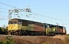 56087 & 70808 DIT, 0Z70, Carnforth, Wed 6 January 2021 - 1413.  Colas Rail's 0950 Grangemouth - Rugby move.