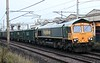 66620, 6C54, Ca\rnforth, Wed 12 August 2020 - 0539.  Freightliner's 2218 Tunstead - Hardendale stone, 123 late.