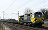 70005, 4Z41, Carnforth, Mon 23 March 2020 - 1214.  Freightliner's 1058 Basford Hall - Barassie yard empty container flats.