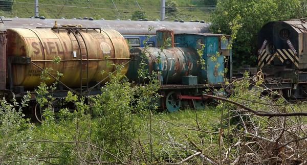 Glaxo fireless loco, Carnforth, 22 May 2008    Barclay 2268 / 1949