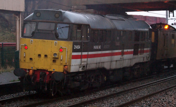 31601 Gauge O Guild & 31454 The Heart of Wessex, 1Q18, Carnforth, 21 January 2008 - 1550 2