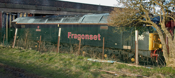 47355 Avocet, Carnforth, 30 March 2008 1   37355 has been for sale by Fragonset's administrators at an asking price of £65,000 since it came to Steamtown for storage on 3 April 2007, but there have been no takers.