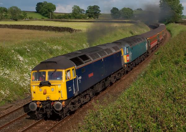 47839 Pegasus & 47853 Rail Express, 1Z94, Long Preston, 5 July 2008 - 1728  2