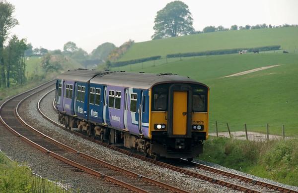 150276, Borwick, 11 May 2008 - 1302    Northern's 1226 Morecambe - Leeds.