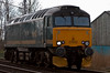 57602 Restormel Castle, 0Z57, Carnforth, 28 March 2008 - 1347    The loco runs from Old Oak Common to Brush Kilmarnock for a repaint into First Group blue. It will lose its Great Western style cast numberplates.