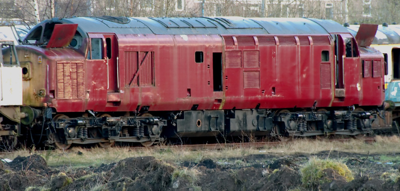 37158, Carnforth, 5 April 2008  The loco had been scrapped by late April 2008.