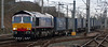 66411 Eddie the Engine, 4S43, Carnforth, 28 January 2008 - 1024   Back is service after waiting five months for turbocharger parts, Eddie heads the 0631 Daventry - Grangemouth Tesco Express.