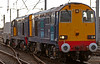 20310 Gresty Bridge & 20307, 6C52, Carnforth, 18 March 2008 - 1611    The clean machines take a single flask from Heysham to Sellafield.