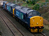 37510, 37229 Jonty Jarvis & 20314, 6K73, Carnforth, 20 October 2008 - 1634    All three locos are in compass colours.