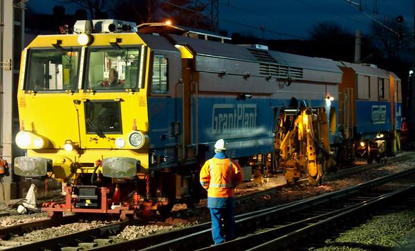DR 75404, Carnforth, 30 March 2008 - 2014 1   Grant Plant's Matisa B41 UE tamper at work.