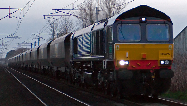 66425, 4Z06, Carnforth, 23 April 2008 - 2018    The DRS loco heads Freightliner's 1800 Crewe - Carlisle mgr empties.