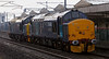 37688 Kingmoor TMD & 37667, 0Z37, Carnforth, 9 March 2008 - 1446   The 37s run light home to Kingmoor.