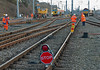 Mopping up, Carnforth, 30 March 2008 1 - 1903   A general view near the end of the weekend possession during which the northern end of the up passenger loop was relaid.