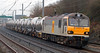 92003 Beethoven, 6O60, Hest Bank, 11 January 2008 - 0932   EWS's Mossend - Dollands Moor (for Antwerp) china clay empties.