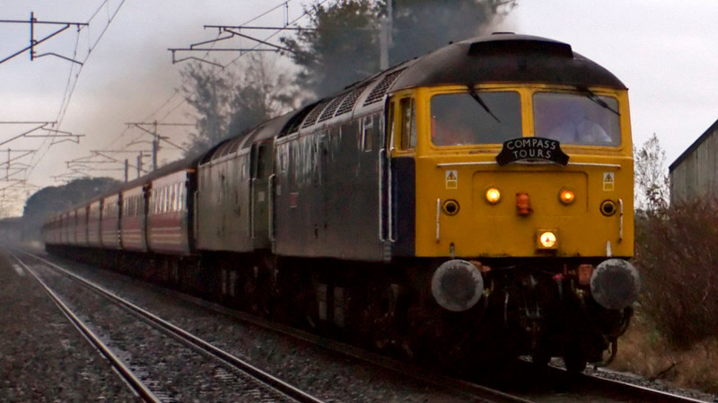 47839 Pegasus & 47815 Great Western, 1Z57, Carnforth, 18 October 2008 - 0909    Working in multi, the Riviera 47s power Compass's Codsall - Glasgow 'Lakeland Scotsman.'