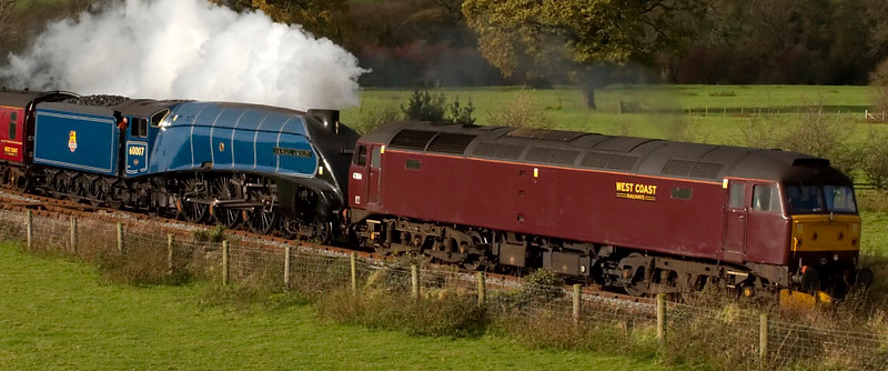 47854 & 60007 Sir Nigel Gresley, 5Z60, Wennington, 7 November 2008 - 1235 2