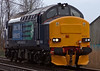37423, 0Z37, Carnforth, 11 March 2008 1 - 1430   Just released by Brush following protracted rectification work, the 37 runs light from Crewe to Carnforth.