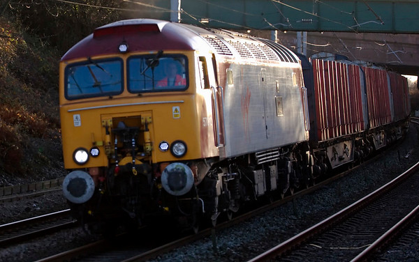57310 Kyrano, 6S19. Hest Bank, 18 November 2008 - 1512    Colas's T/ThO 0925 Chirk - Carlisle timber empties.
