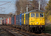 86605 & 90046, 4M74, Carnforth, 8 April 2008 - 1741   A rarely seen loco combination on the 1300 Coatbridge - Crewe Freightliner.