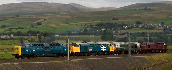 55022 Royal Scots Grey, 40145 East Lancashire Railway, D5310 & 37712, 0Z25, Greenholme, 15 August 2008 - 1605 2