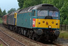 47853 Rail Express & 47839 Pegasus, 1Z93, Long Preston, 5 July 2008 - 1633    Compass's Cumbrian Fellsman charter ran from Stafford via the Cumbrian coast to Carlisle, then over the S & C.  Because the Hellifield - Clitheroe line was closed for relaying, it reversed at Hellifield and regained the WCML via Carnforth.  This shot shows the train approaching Hellifield, with both locos working.