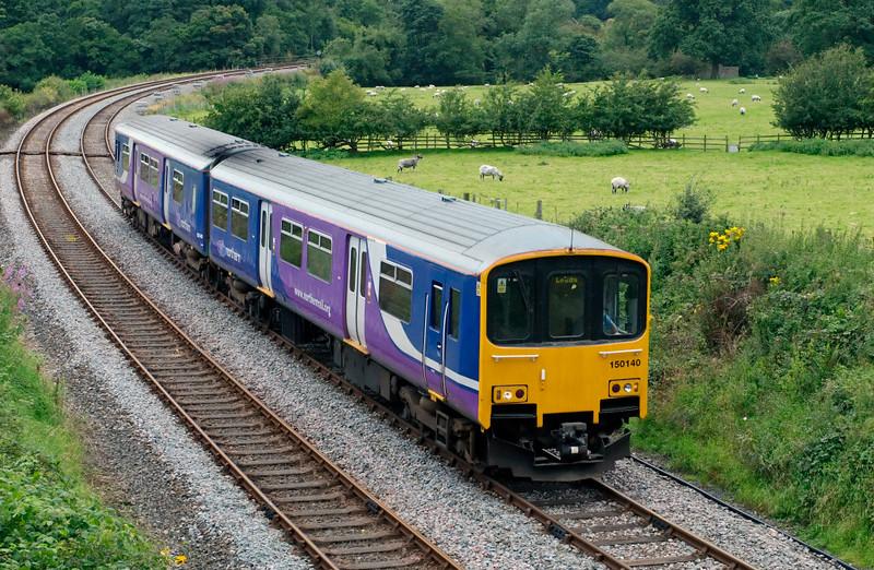 150140, Wennington, 11 August 2008 - 1340    Northern's 1244 Morecambe - Leeds.