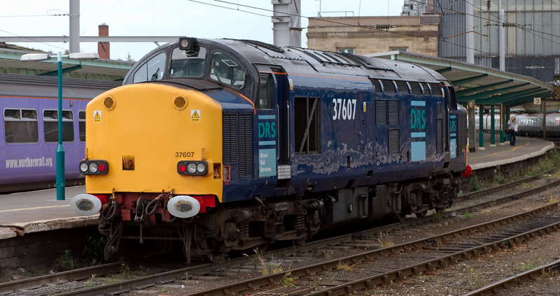 37607, 0Z26, Carlisle, 24 July 2008 - 1413    A DRS Carnforth - Hellifield - Carlisle route learner makes for Kingmoor.