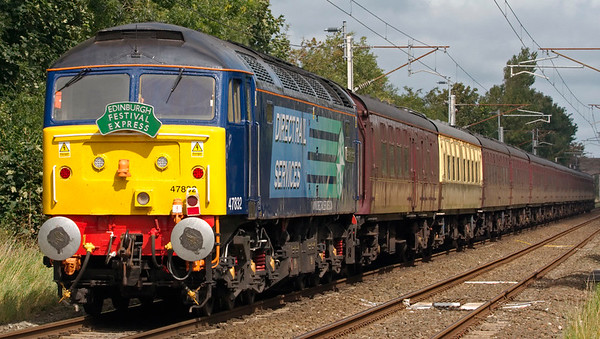 37712 & 47832 Solway Princess, 5Z90, Carnforth, 24 August 2008 - 1317 2    ...47832, hired by WCRC from DRS to cover a diesel shortaage.  47832 had worked the charter throughout, with the 37 handling the ECS moves.