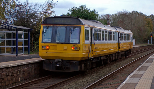 142057, Silverdale, 30 October 2008 2 - 1621    The platform shelter at left makes an interesting comparison with...