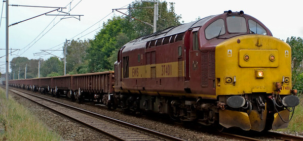 37401, 6L30, Carnforth, 17 September 2008 - 1645     The rare sight of an EWS 37 heading a WCML PW train, in this case  from Carlsile.